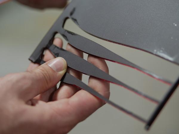 Savoir faire branches acétate de lunettes par Carrier.
